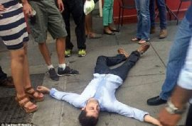 Man claiming to be fired Goldman Sachs employee critically beaten up after racist remarks.