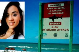 Bruna Gobbi gobbled up by shark moments before rescue.