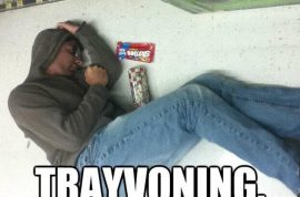 Trayvoning, posing like Trayvon Martin's dead body for laughs