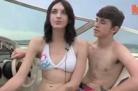 Transgender teenage couple in love. He used to be a her and her a he…