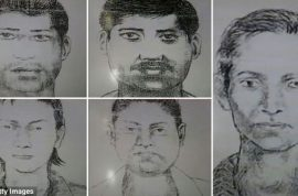 Indian photojournalist gang raped whilst colleague is tied up.