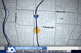 Woman's body on Ohio highway run over several times.