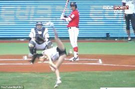 South Korean actress, Tae-Mi dazzles with acrobatic pitch. Hawt bixch…