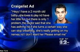 Paul Marquez puts girlfriend's baby on craigslist for $100. Gets offer.