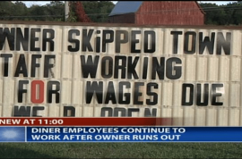 Stiffed workers keep restaurant open to earn money they are owed.