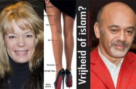 Louboutin sues far right Flemish politician from using red shoe in anti Islam leaflet.