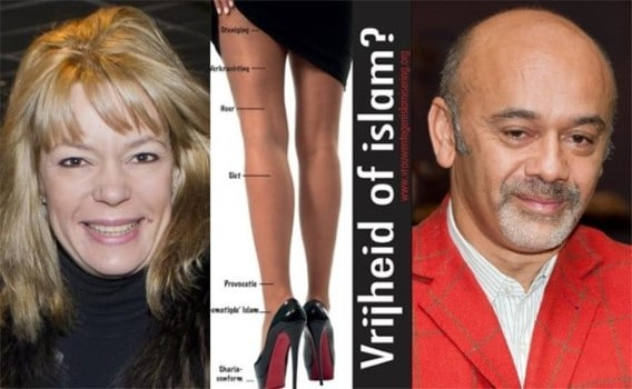 Anke Van Dermeersch and Christian Louboutin