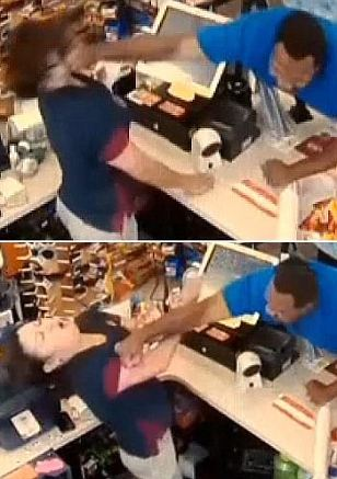 Man punches female store clerk in the face over 41 cents.