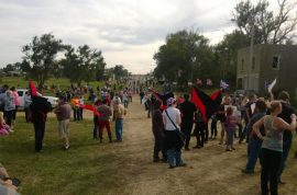 White supremacists brace for stand off in North Dakota town of Leith.
