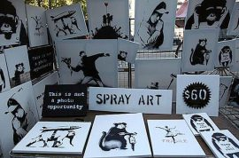 Did you buy a fake art work from Bansky at Central Park?