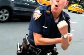 Video: NYPD cop tells Mr Softee truck driver to blow her.