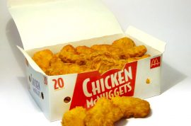 Chicken nuggets are really just bone and nerve endings.