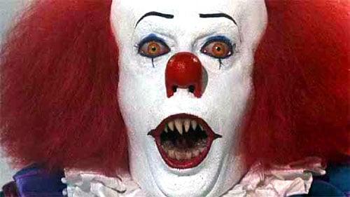 Assassin dressed as a clown
