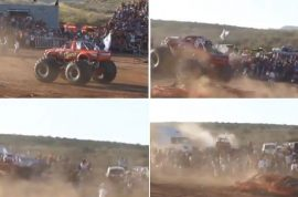 Drunk Mexican Monster truck driver kills 8 injures 79.