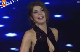 Gozde Kansu, Turkish tv presenter sacked for wearing a low cut top.