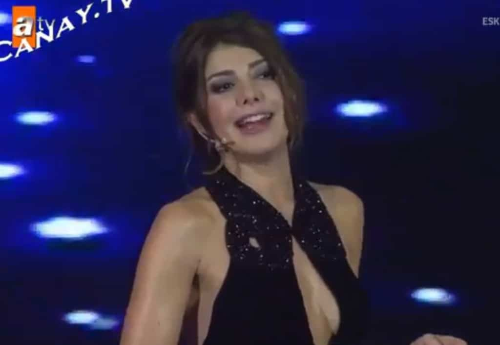 Turkish tv presenter sacked for wearing a low skirt.
