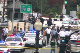 US Capitol lockdown. Suspect in custody after 7 gunshots fired.