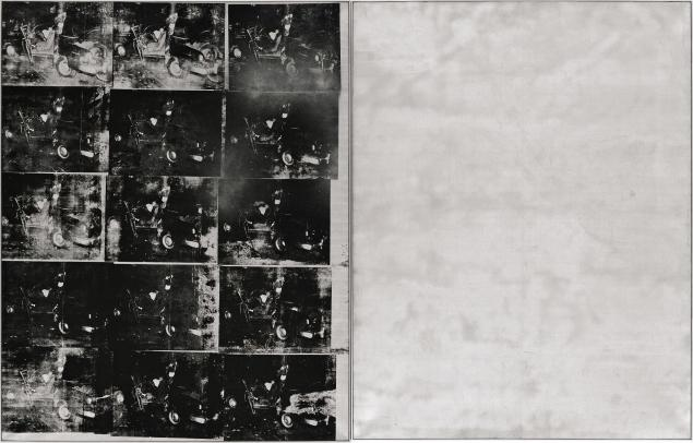 Andy Warhol's Silver Car Crash painting