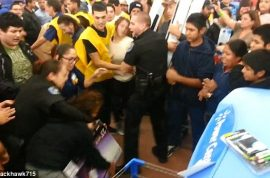 Black Friday chaos arrives in America. Fist fights, stabbings, thefts and brawls.