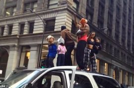 Chicago rooftop SUV dance in the loop leads to arrests.