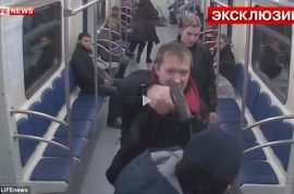 Russian subway passenger shot in the face. Racism blamed.