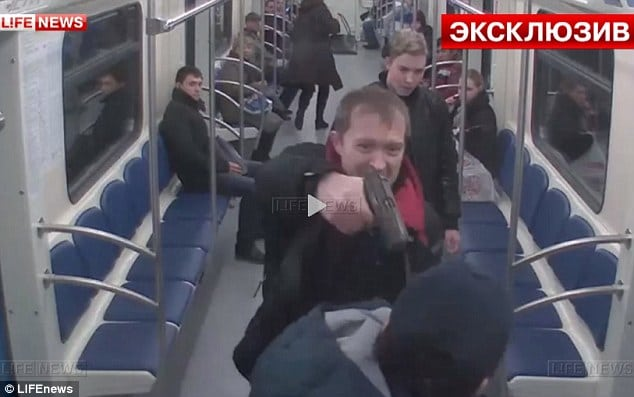Russian Metro passenger shot in the face