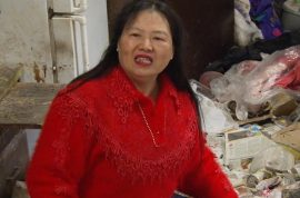 Would you eat here? Extreme hoarder dares to invite you to her filth trash home for dinner.