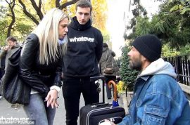 Homeless man is presented with one way ticket back to Czech Republic after found in park robbed of cash, passport and shoes.