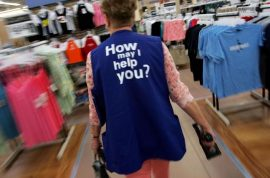 Wal-Mart employees go on strike to protest shitty life while you shop your heart out.