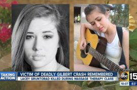 Car crashes into classroom killing student who switched seats.