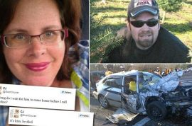 Caran Johnson, mother live tweets deadly car accident only to find out it was her husband.
