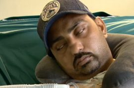 Man left paralyzed after choking in an eating contest to sue.