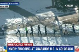 Arapahoe High School gunman kills self. Injures two. Mystery abound.