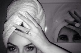 Oh really? Kim Kardashian instagram, compares herself to Elizabeth Taylor.