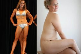 Taryn Brumfitt hits back at Fit Mom for promoting unhealthy beauty ideals.