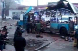 Volgograd tram bomb blast. 14 dead, day after Russian train bombing.