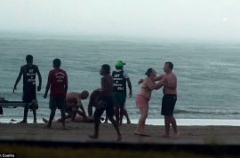 Here are photos of Rosangela Biavati, Brazilian tourist killed by the precise moment of lightning.