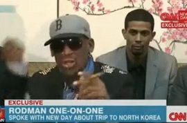 Watch Dennis Rodman meltdown on CNN.