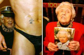 Great grandmother, Doris Deahardie hires strip dancer for her 100th birthday.
