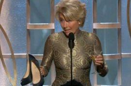 Emma Thompson drunk at the Golden Globes: I'm the supreme bixch here thanks.
