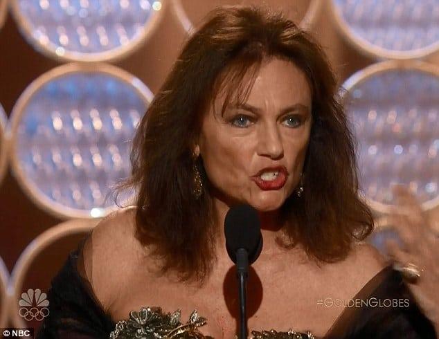 Jacqueline Bisset Golden Globes acceptance speech
