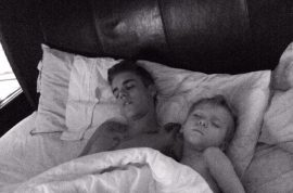 Justin Bieber Toronto charges and twitter pics of Biebs sleeping with baby brother make me giddy.
