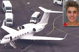 Justin Bieber's private plane marijuana stash got searched. Freed.