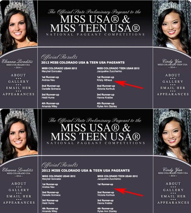 Kristy Althaus Miss Colorado Teen Runner up
