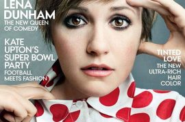 Lena Dunham Vogue cover causes vomit.