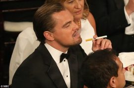 Leonardo DiCaprio supermodel vagina joke is well appreciated by Leo.