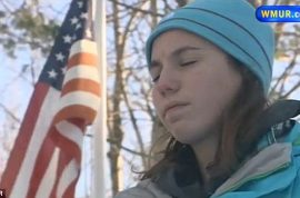 How Maddie Gilmartin got stuck to a flagpole after licking it.