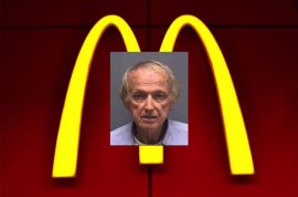 Spencer Toner, 79 year old Florida man arrested for jerking off in McDonald's parking lot.