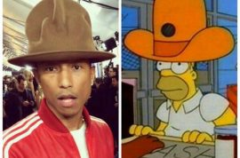 Pharrell Williams hat at the Grammys is now a twitter meme.