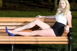 Alexandra Robertson insists she has the longest legs in the world.